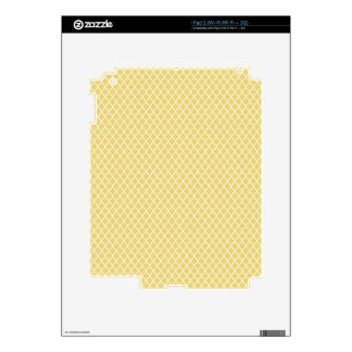 simple and pretty yellow decal for iPad 2