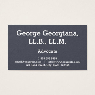 Simple and Professional Advocate Business Card