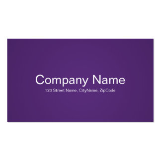 Simple and Professional Purple Business Cards