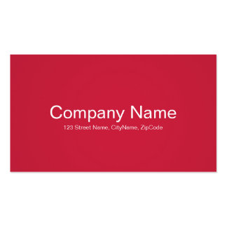 Simple and Professional Red Business Cards