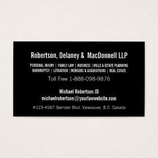 Simple and Sleek Professional Company Business Card