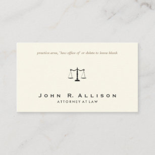 Sophisticated business cards zazzle simple and sophisticated attorney ivory business card colourmoves