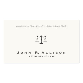 Simple and Sophisticated Attorney Off White Double-Sided Standard Business Cards (Pack Of 100)