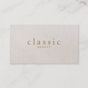 Sophisticated business cards zazzle simple and sophisticated beauty beige linen look business card colourmoves