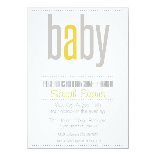 simple and sweet baby shower invitation zazzle