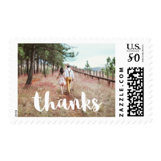 Simple and Whimsical Add Photo Thanks Postage