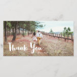 """Simple and Whimsical Wedding Thank You<br><div class=""""desc"""">Simple and Whimsical Wedding Thank You Photo Card.</div>"""