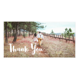 Simple and Whimsical Wedding Thank You Card