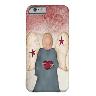 Simple Angel Holding Heart Art Barely There iPhone 6 Case