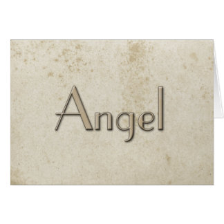 Simple Angel Vintage Stained Paper Card