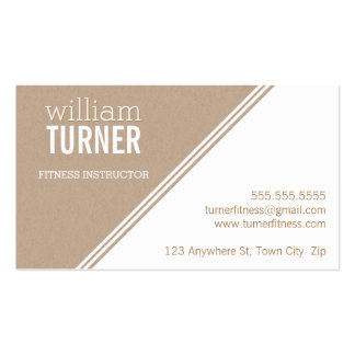 SIMPLE ANGLE modern text minimal trendy eco kraft Double-Sided Standard Business Cards (Pack Of 100)