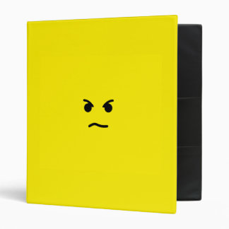 Simple Angry Yellow Face Binder