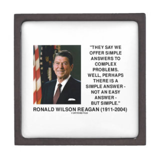 Simple Answers To Complex Problems Reagan Quote Jewelry Box