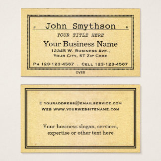 Simple Antique Old Aged Paper Business Card