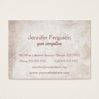 Simple Antiqued Chubby Business Card
