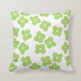 Simple Apple Green Flower Blossoms Throw Pillow
