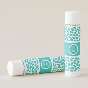 Professional Business Simple aqua and white cobblestone pattern lip balm