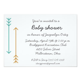 Simple Arrow Bohemian Baby Shower Invite