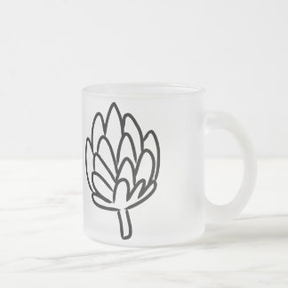 Simple Artichoke drawing Frosted Glass Coffee Mug