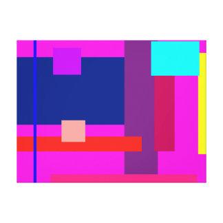 Simple Artistic Design Shocking Pink Canvas Print