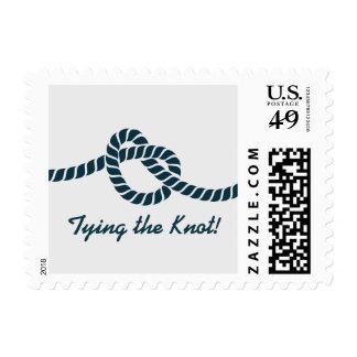 Simple atando la reserva del nudo la fecha sello