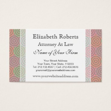 Lawyer Themed Simple Attorney at Law Business Card Template