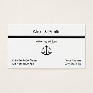 Simple Attorney Business Card