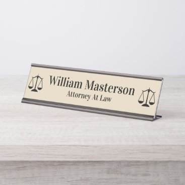 Simple Attorney Office Desk Plaque Desk Name Plate