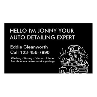 Simple Auto Detailing Business Cards