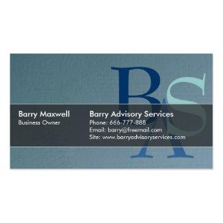Simple azul moderno elegante profesional tarjetas de visita