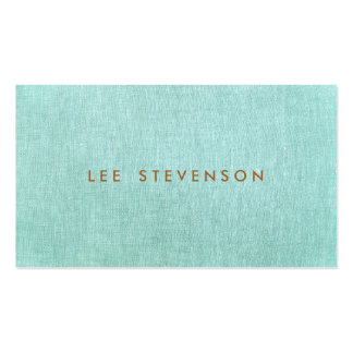 Simple, azules turquesas, Minimalist elegante Plantillas De Tarjetas De Visita