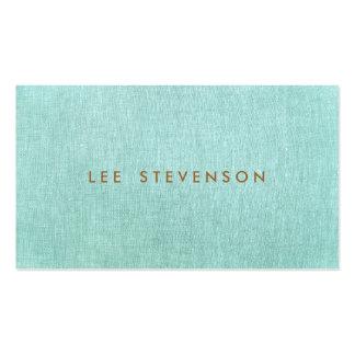 Simple, azules turquesas, Minimalist elegante Tarjetas De Visita