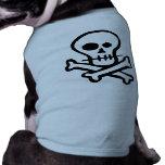 Simple B&W Skull & Crossbones Dog Shirt