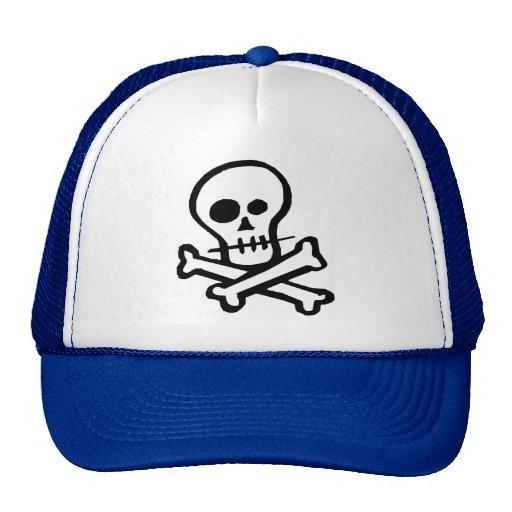 Simple B&W Skull & Crossbones Hats