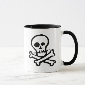 Simple B&W Skull & Crossbones Mug