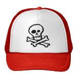 Simple B&W Skull & Crossbones Trucker Hats