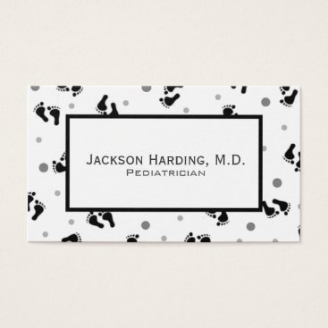 Professional Business Simple Baby Feet Pediatric Business Card