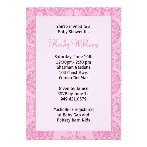 simple baby shower invitation zazzle