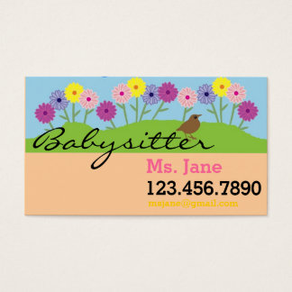 Simple BabySitter Nanny Business Card
