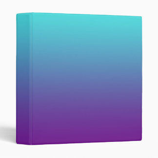 Simple Background Gradient Turquoise Blue Purple Binder