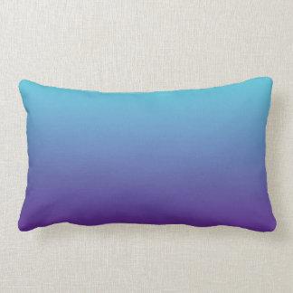 Simple Background Gradient Turquoise Blue Purple Lumbar Pillow