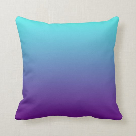 Blue Purple Throw Pillows : Simple Background Gradient Turquoise Blue Purple Throw Pillow Zazzle