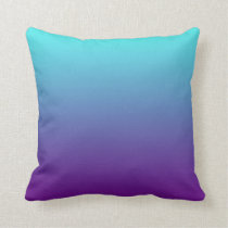 Simple Background Gradient Turquoise Blue Purple Throw Pillow
