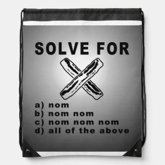 Simple Bacon Math Cinch Bag