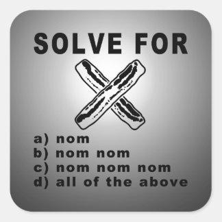 Simple Bacon Math Square Sticker