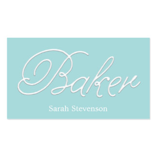 Simple Bakery White Icing Typography Business Card