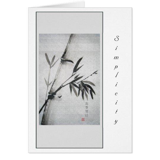 simple Bamboo Card
