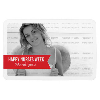 Simple Banner Nurses Week Photo Magnets | 4 x 6