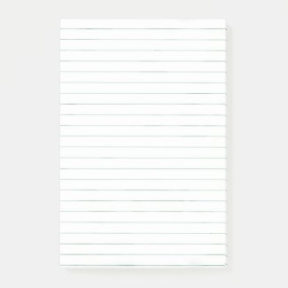 Simple basic white lined paper post-it notes