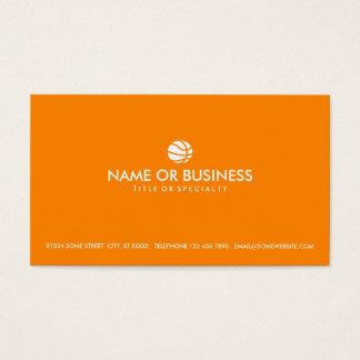 simple basketball business card